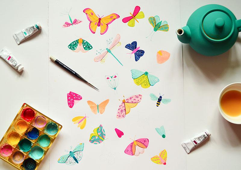 ioana petre fluturi imprimeu carturesti