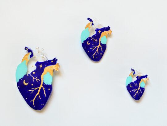 ioana petre starry heart brooch