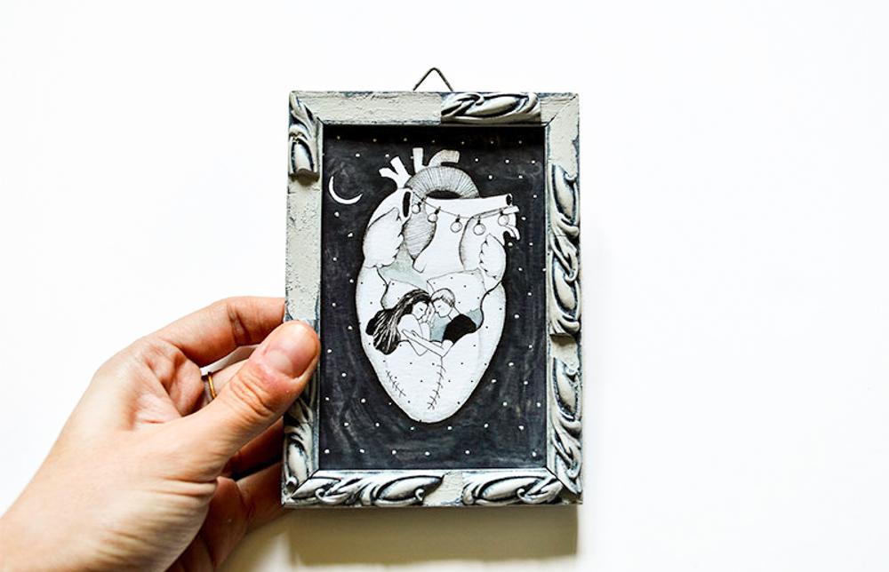 ioana petre ilustratie inima cuplu
