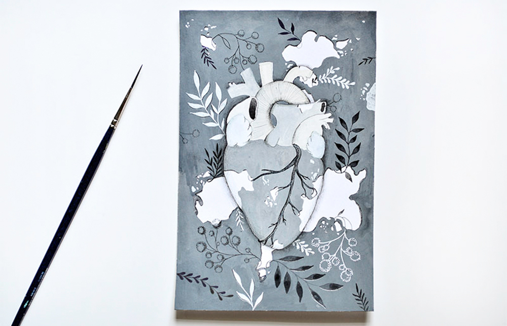 ioana petre ilustratie inima vitiligo