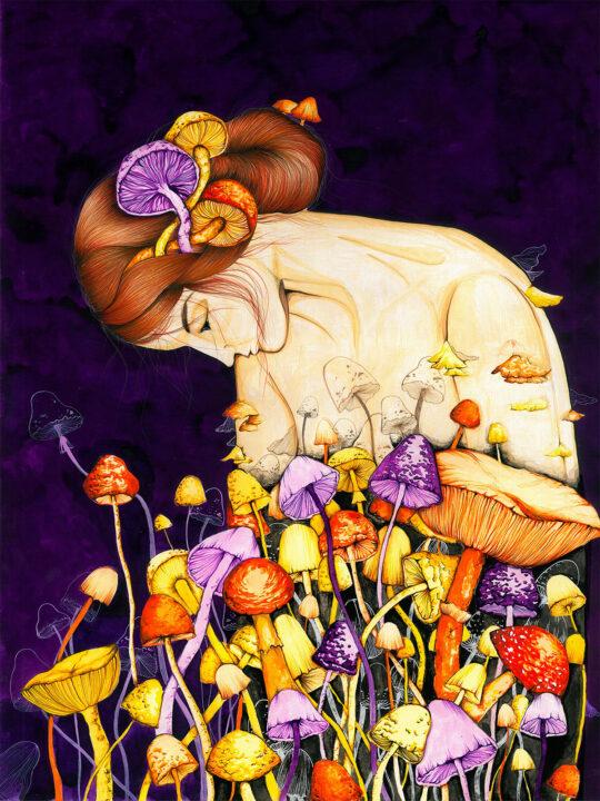 ioana petre mushroom girl art print