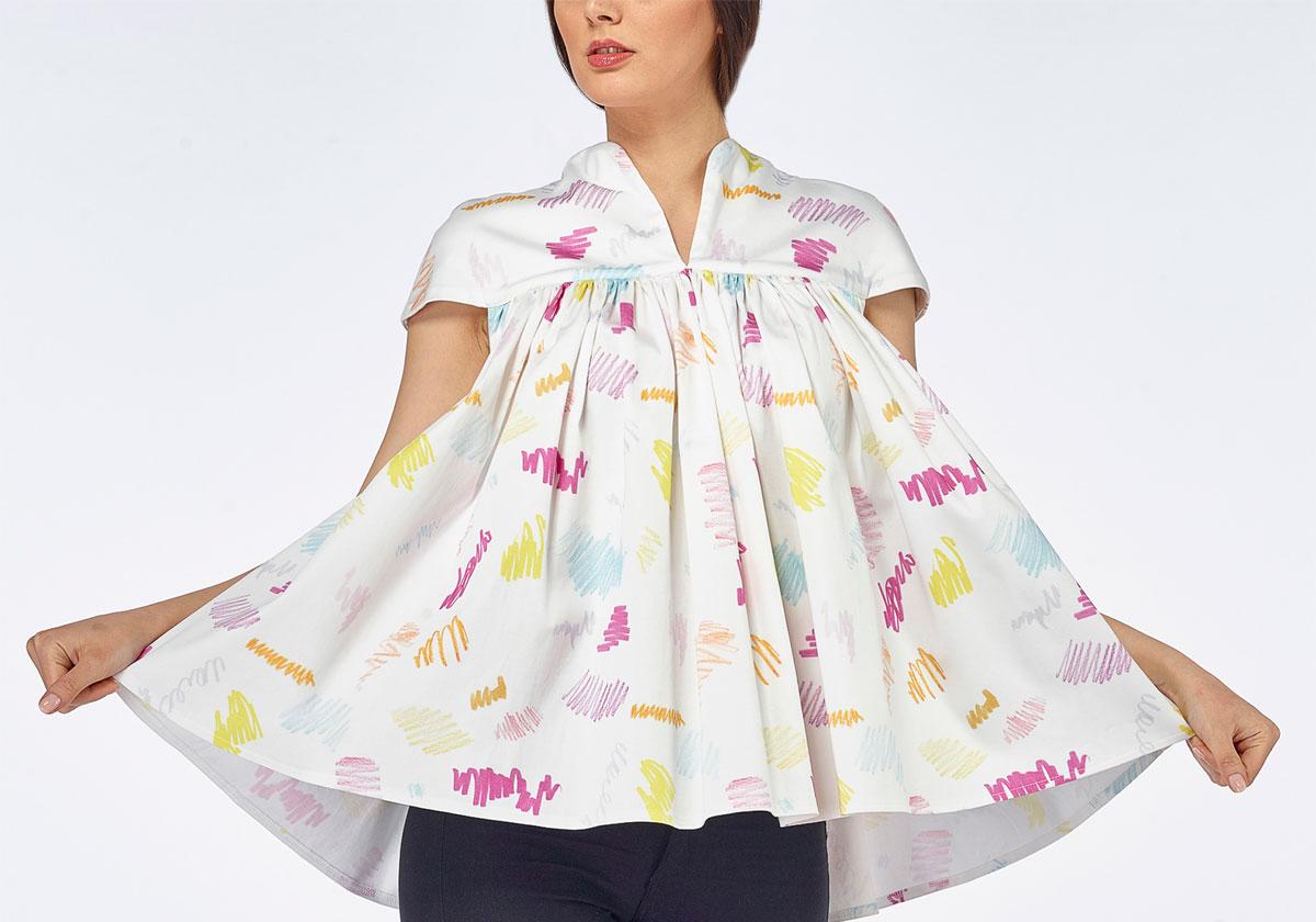 ioana petre children doodles blouse