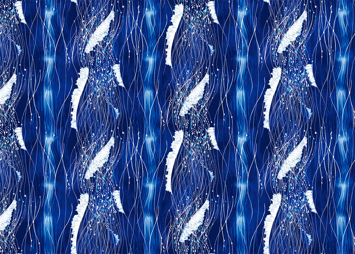 ioana petre blue jellyfish pattern