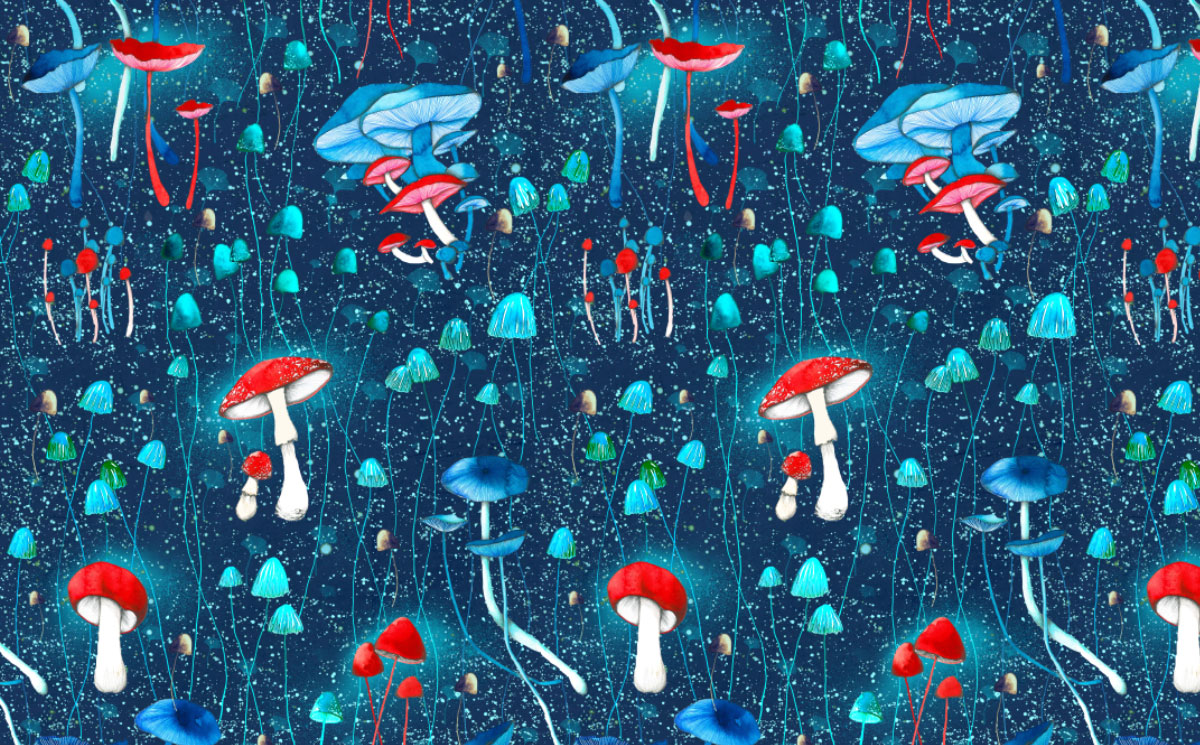 ioana petre mushrooms pattern