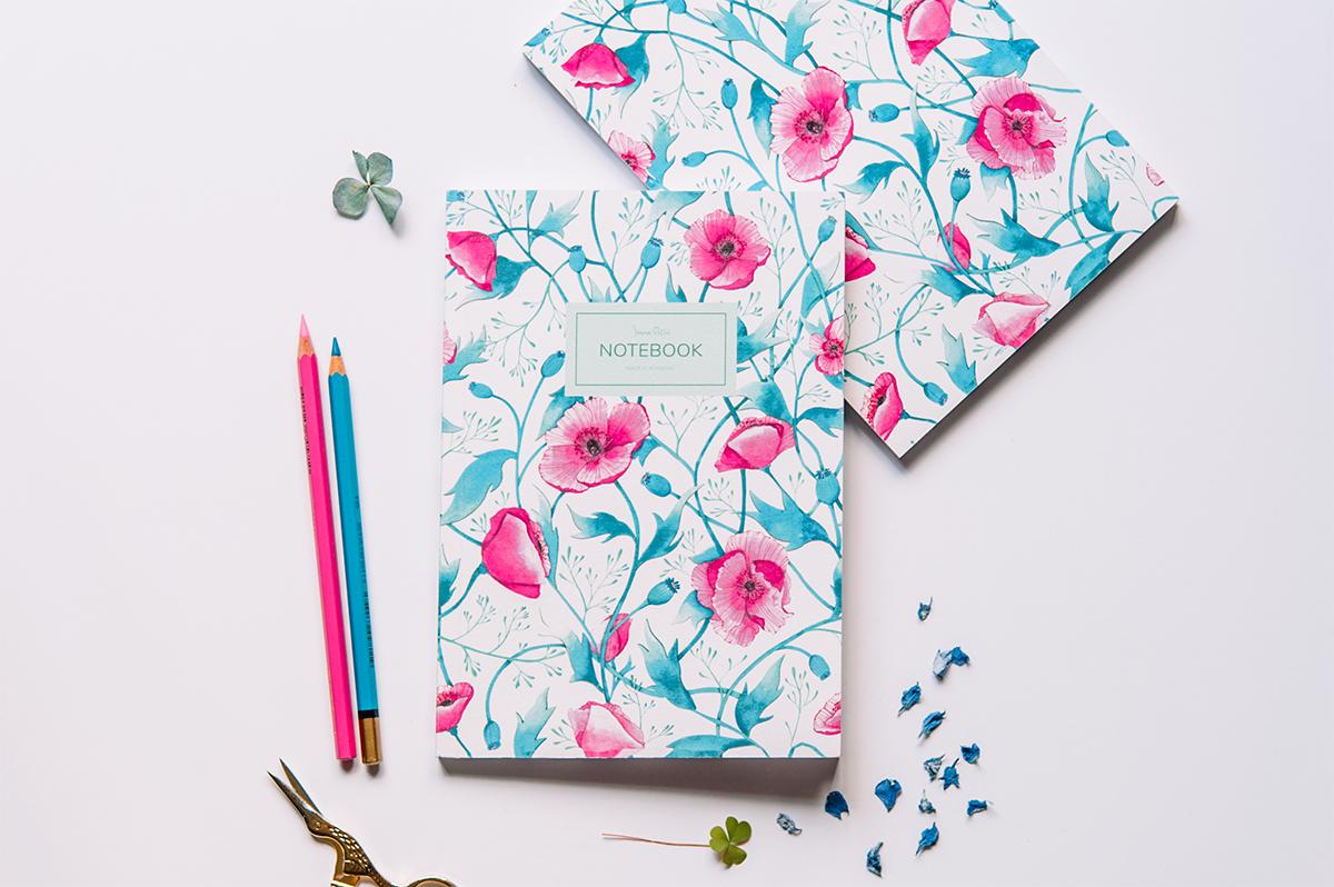 ioana petre poppies notebook