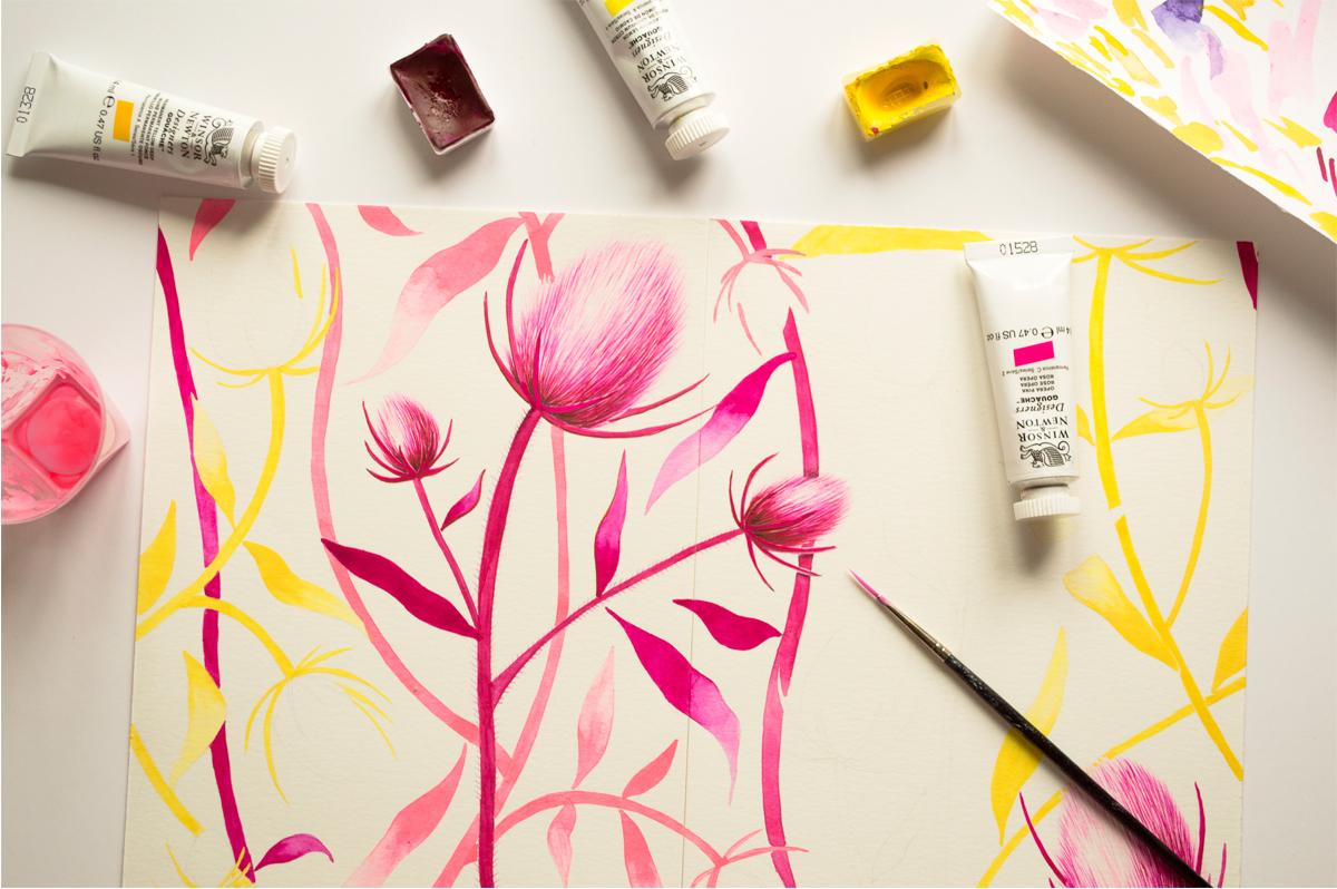 ioana petre thistles painting