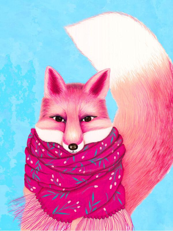 wintery fox