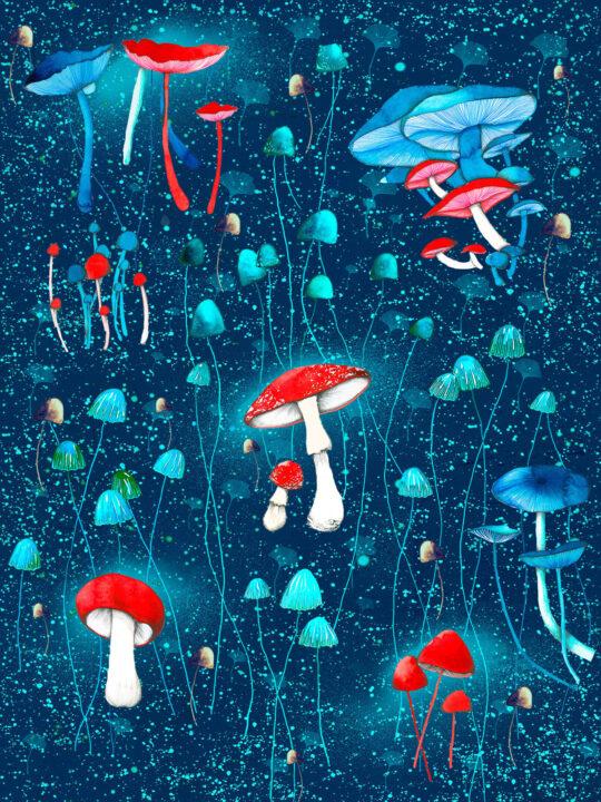 Mushrooms Pattern